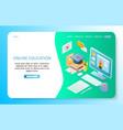online education landing page website vector image