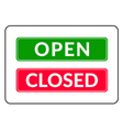 Open and Closed door Sign vector image