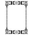 ornamental old frame vector image