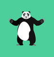 panda happy emoji chinese bear merry emotion vector image vector image