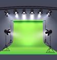 photo studio spotlights composition vector image