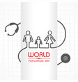 poster or banner for world population day vector image