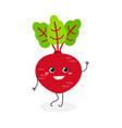 pretty cartoon beet vector image