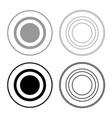 radio signal symbol connect icon set grey black vector image vector image