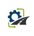 road construction logo road maintenance creative vector image vector image