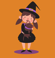 School Witch Holding her Dog vector image vector image