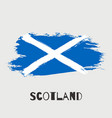 scotland watercolor national country flag icon vector image