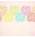 Seamless pattern with abstract doodle hearts vector image vector image