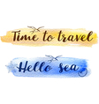 Set of abstract watercolor travel backgrounds vector image vector image
