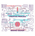 set of banners with creative process and vector image vector image