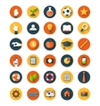 Set of flat icon vector image