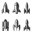 set rockets icons vector image vector image