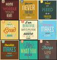 set vintage typographic backgrounds vector image