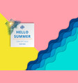 summer sale background template layout for banner vector image