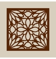 Template for laser cutting decorative panel vector image vector image