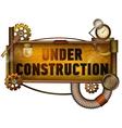 Under construction banner vector image