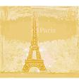 vintage retro Eiffel card vector image vector image