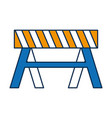 warning barrier icon vector image vector image