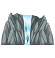 waterfall coming down of gray rocks vector image vector image