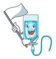 with flag infussion bottle mascot cartoon vector image