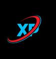 xp x p letter logo design initial letter xp vector image vector image