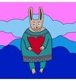 cute romantic bunny boy vector image