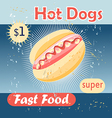 tasty hot dog vector image
