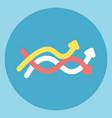 arrow flow icon sales growth concept vector image