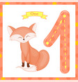 cute children flashcard number one tracing with 1 vector image