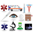 medical icons and symbols set vector image