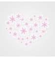 Floral heart shape vector image
