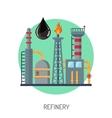 Oil refinery icon vector image
