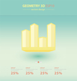 3d arrows infographic Template vector image