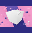 3d realistic box abstract scene with text vector image vector image
