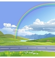 a hilly landscape vector image vector image