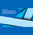 abstract elegant blue intersected lines template vector image