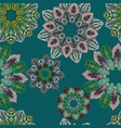 abstract fractal seamless pattern green background vector image vector image