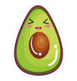 avocado fresh vegetable kawaii character vector image