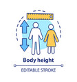 body height check concept icon monitoring vector image