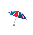 british flag colored umbrella season english vector image