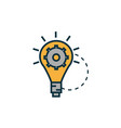 bulb with gear work tools engineering icon vector image vector image