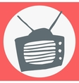 Cartoon flat simple tv icon vector image vector image
