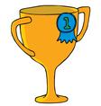 Cartoon trophy vector image vector image