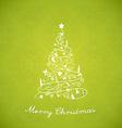 Christmas tree created of Christmas simple vector image vector image