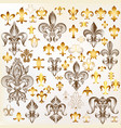 collection of royal fleur de lis for design vector image vector image