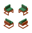 collection with one comfortable chair in various vector image