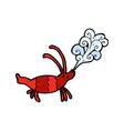 comic cartoon shrimp vector image vector image