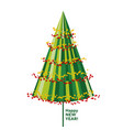 concept decorative abstract christmas tree vector image vector image
