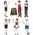 Different type of works vector image vector image