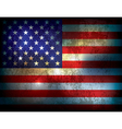 Distressed American Flag Background vector image